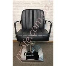 Парикмахерское кресло на гидравлической помпе ZD-323, черный