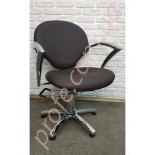Парикмахерское кресло на гидравлической помпе ZD-338, коричневый