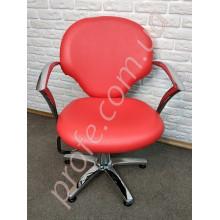 Парикмахерское кресло на гидравлической помпе ZD-338, красный