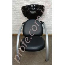 Мойка с креслом ZD-2211, черная