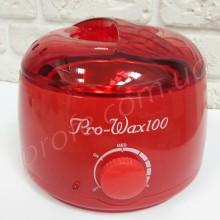 Нагреватель для горячего воска воскоплав Pro Wax 100 красный