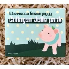 Коллагеновая желеобразная маска для лица Elizavecca Green Piggy